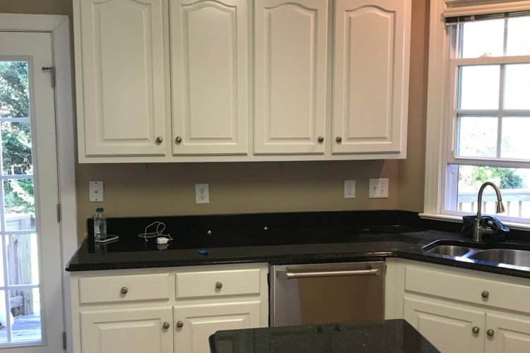 PICKLED MAPLE CABINETS TO A BEAUTIFUL ALABASTER COLOR
