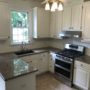 OAK CABINETS REFINISHED WITH WHITE DOVE RALEIGH, NORTH CAROLINA