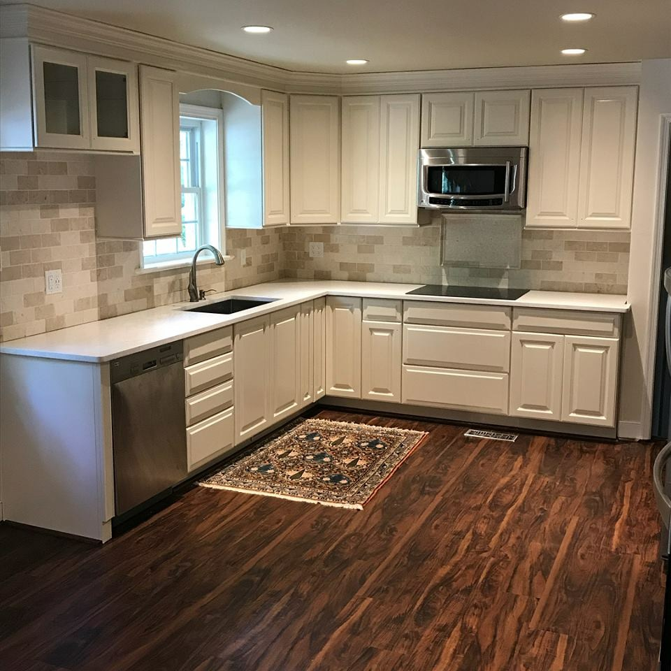 Beautiful Refinished Kitchen In Midlothian Va Complete Cabinet